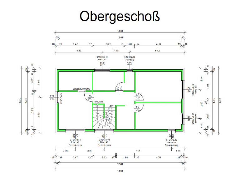 Marchfeldhaus Cube I Obergeschoss