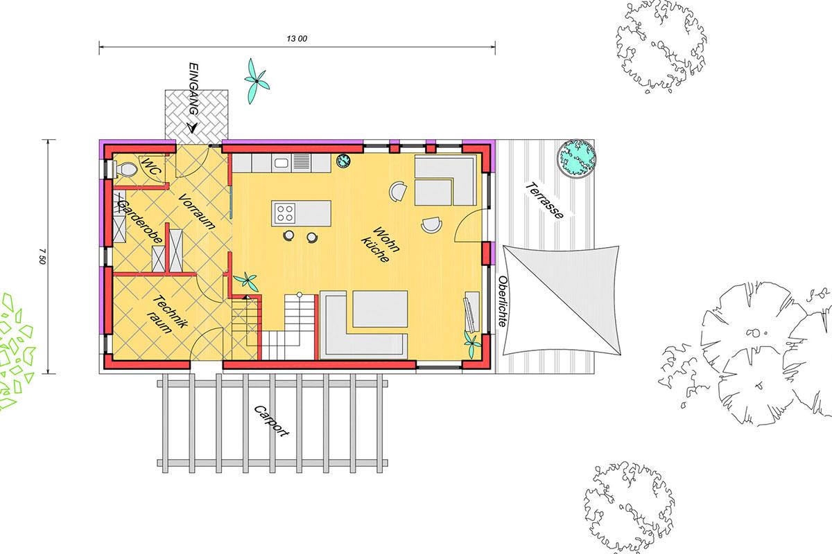 Marchfeldhaus Typ 2 Grundriss Erdgeschoss