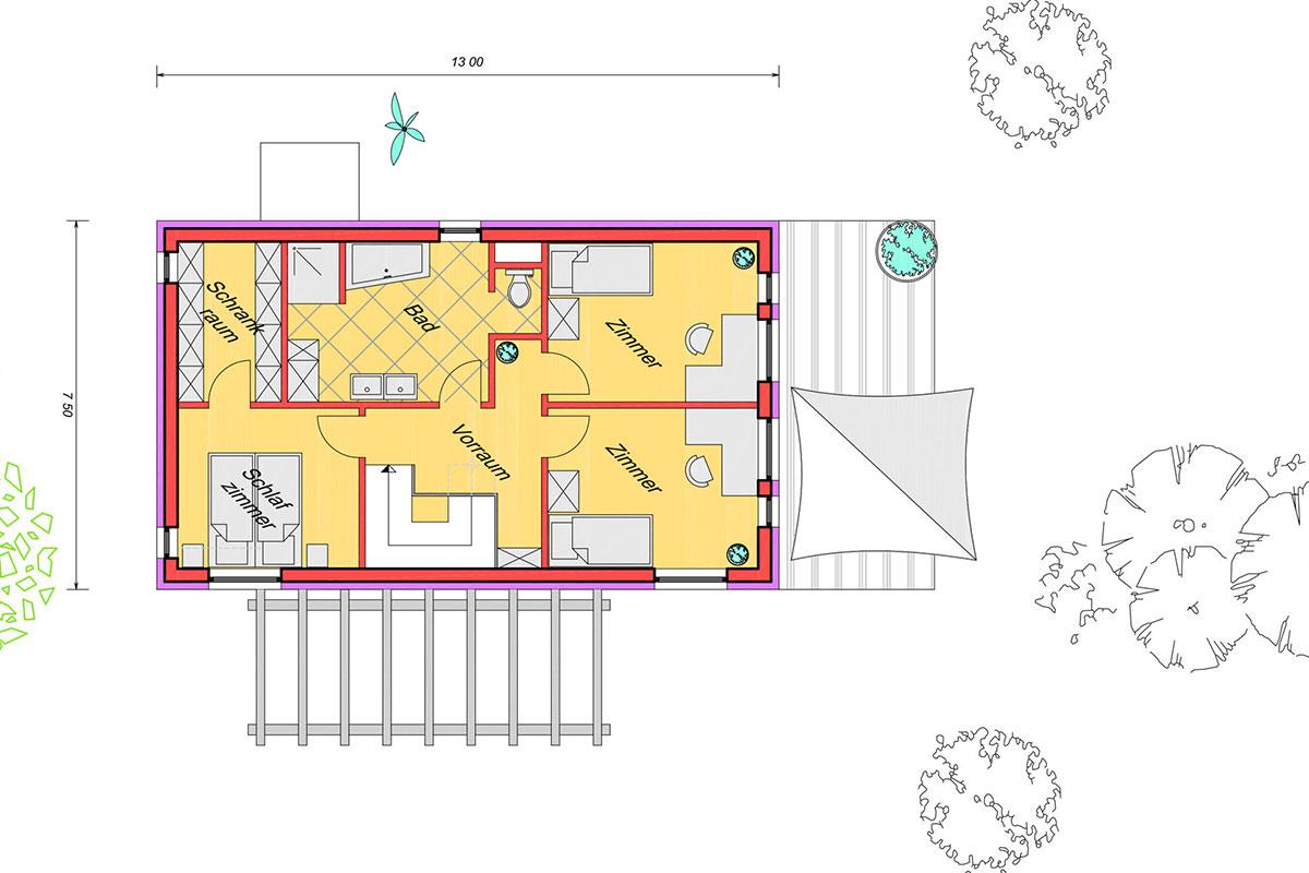 Marchfeldhaus Typ 2 Grundriss Obergeschoss