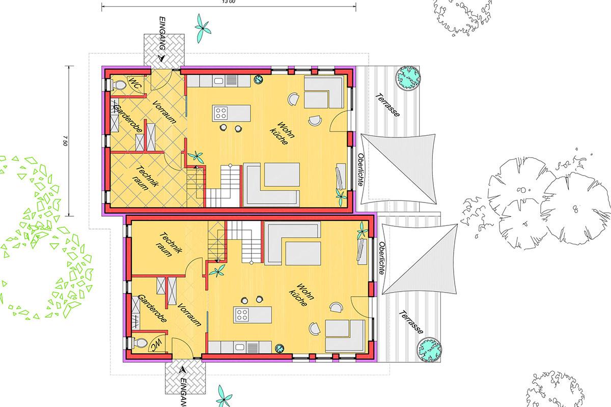 Marchfeldhaus Typ 3 Grundriss Erdgeschoss