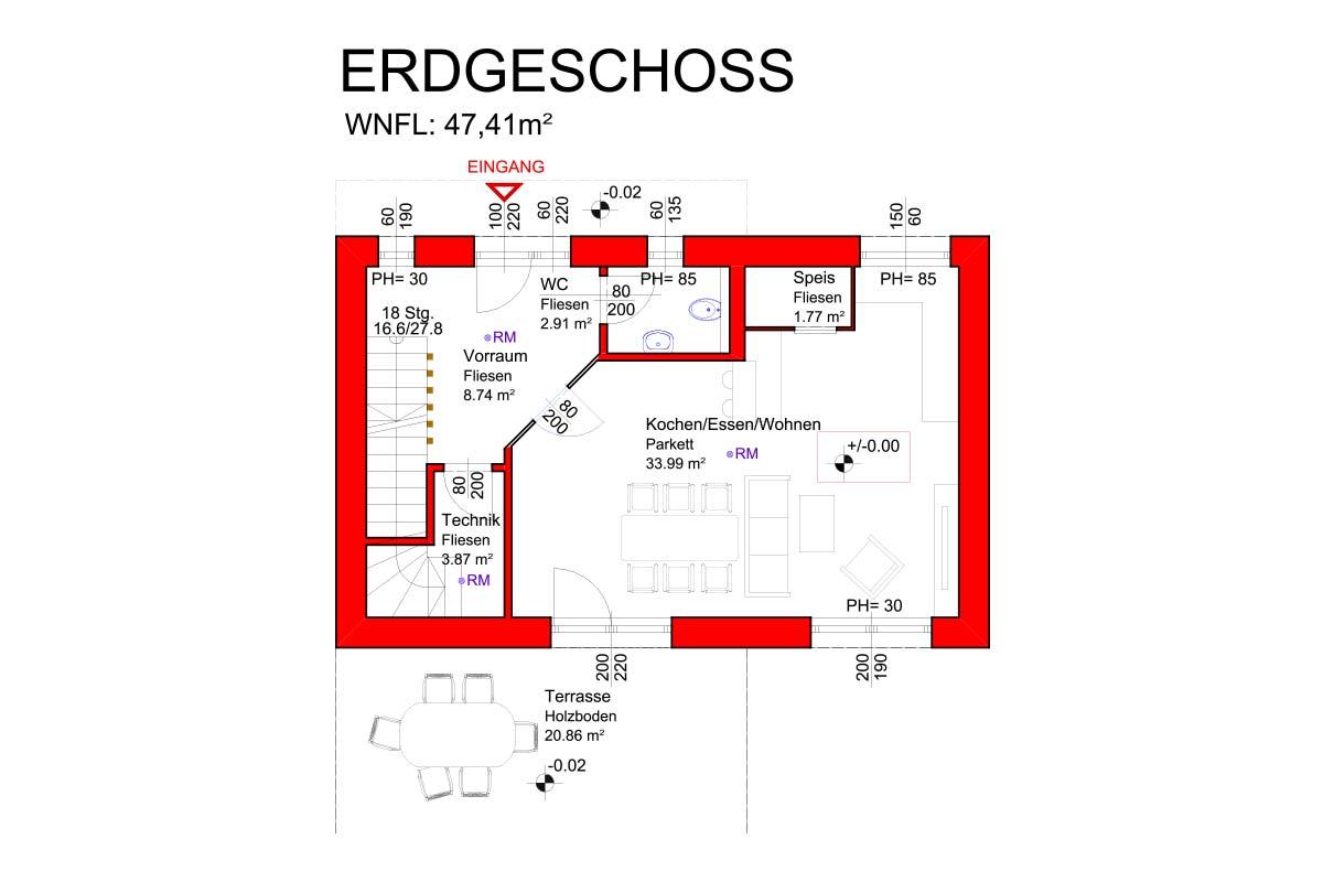 Marchfeldhaus 2beSmart Variante 1 Erdgeschoss