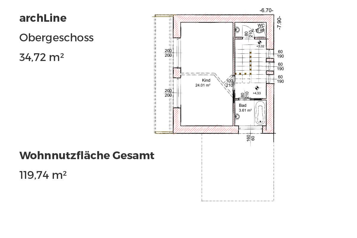 Marchfeldhaus archLine Obergschoss