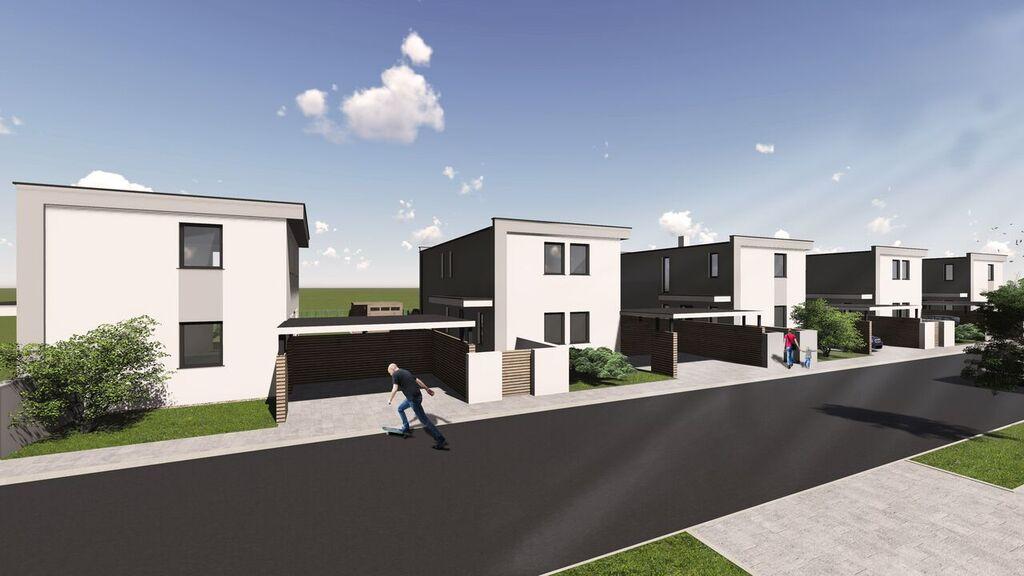 Marchfeldhaus Projekt Lassee Vorderansicht Links