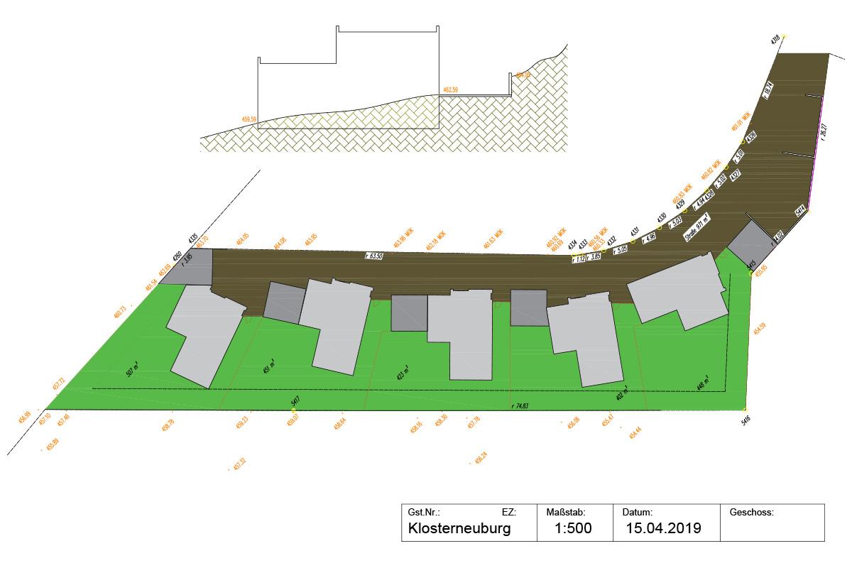 Lageplan Projekt Klosterneuburg - Marchfeldhaus